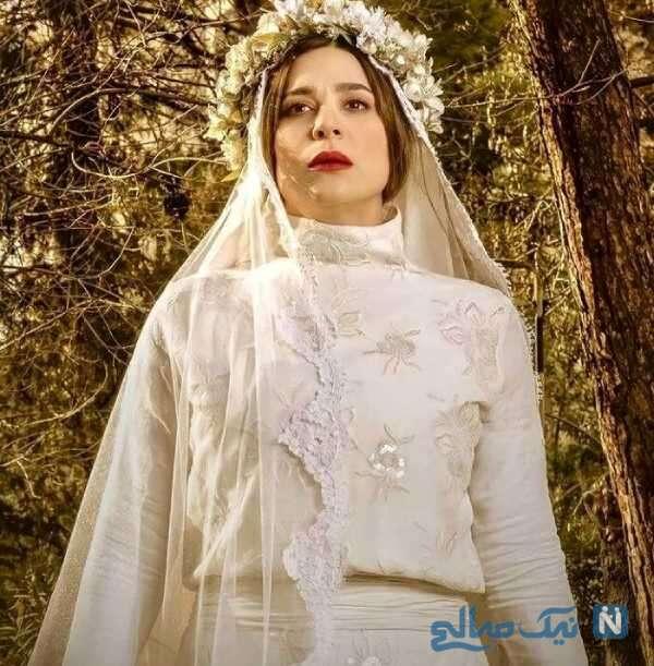 سحر دولتشاهی با لباس عروس