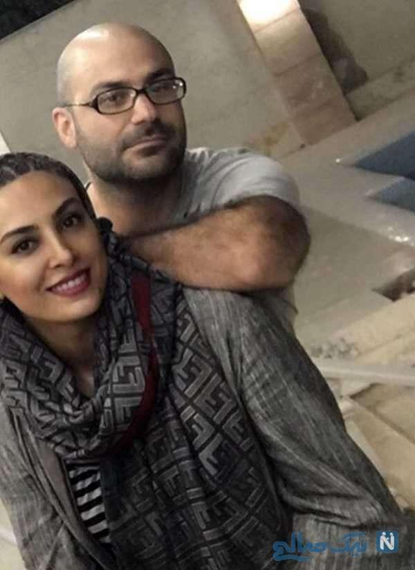 کیان مقدم خواننده معروف و همسرش