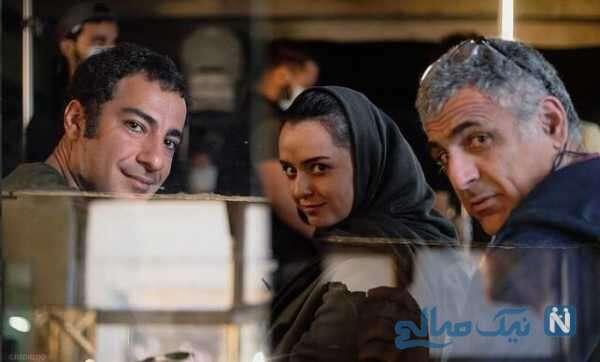 نوید محمدزاده با ترانه علیدوستی در پشت صحنه تفریق