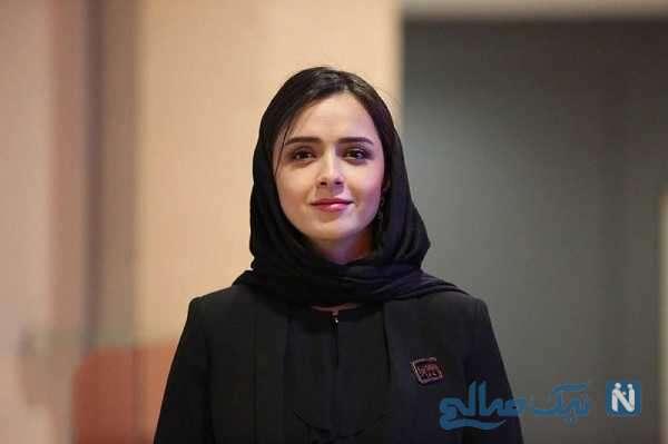 عکس جدید ترانه علیدوستی و نوید محمدزاده در پشت صحنه فیلم تفریق