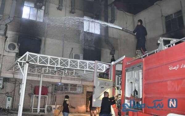 آتش سوزی وحشتناک در بیمارستان