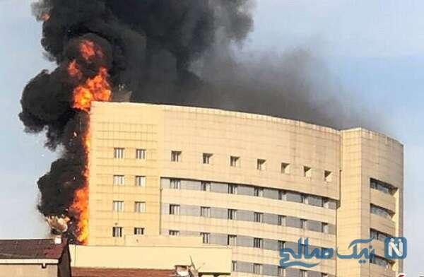 آتش سوزی وحشتناک در بیمارستان کرونایی ابن الخطیب عراق
