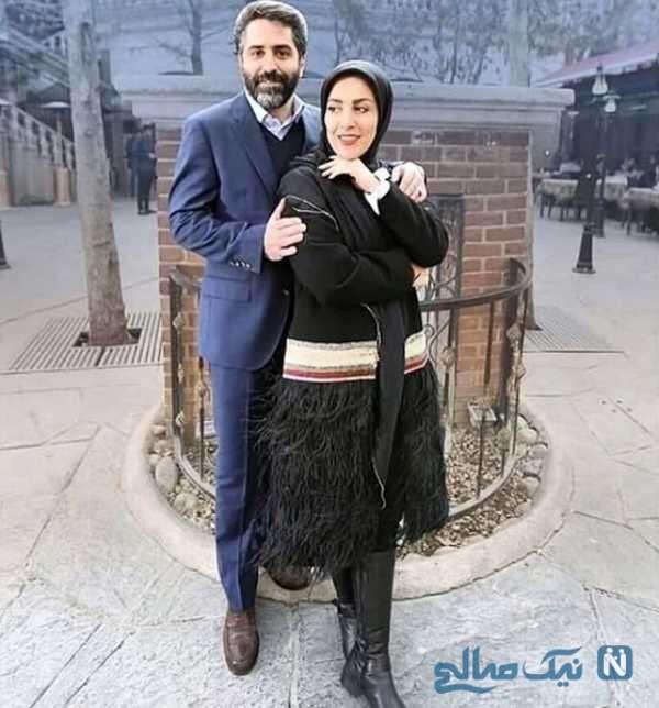 ژیلا صادقی در کنار شوهرش