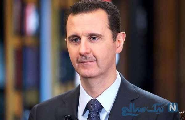 بشار اسد وهمسرش اسما هنگام رای دادن در انتخابات سوریه