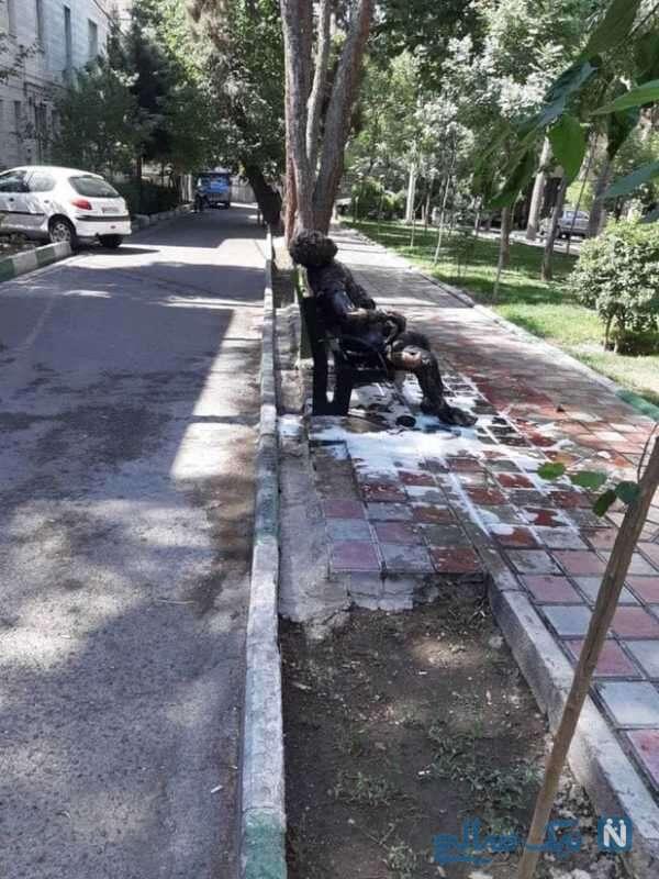 تصویر دلخراش از خودسوزی مرد تهرانی