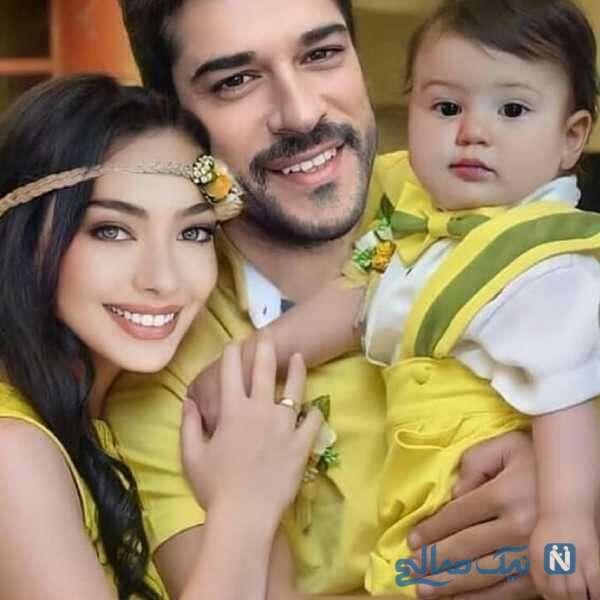 ست لباس فخریه اوجن با همسر و فرزندش