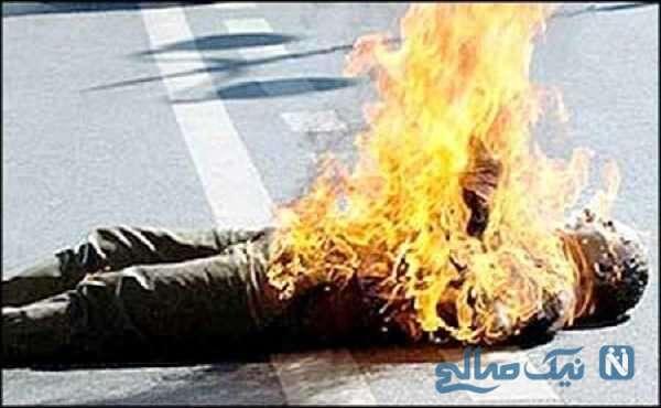 تصویری دلخراش از خودسوزی مرد تهرانی در پارک میدان نارمک
