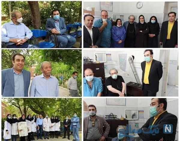 علی نصیریان و مسعود کیمیایی پس از دریافت واکسن کرونا