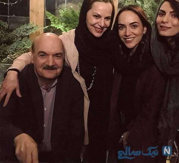 ایرج طهماسب بازیگر معروف در کنار همسر و دخترانش