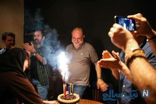 جشن تولد آتیلا پسیانی بازیگر