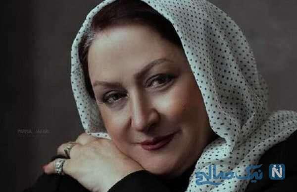 بازیگر زن مریم امیر جلالی بر سر مزار مرحوم ناصر حجازی