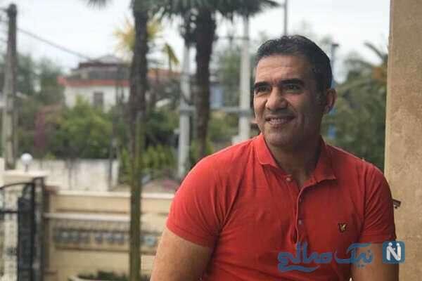 تمرینات حرفه ای احمدرضا عابدزاده با پسرش در باشگاه بدنسازی