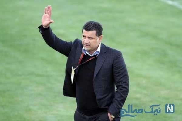 تصویری از علی دایی مربی فوتبال