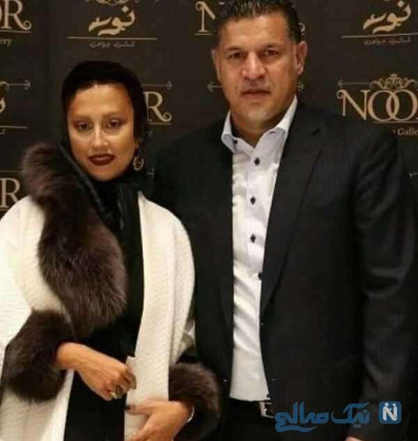 علی دایی سرمربی فوتبال و همسر دومش