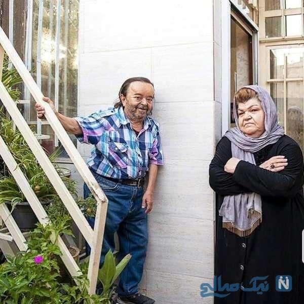 اسدالله یکتا بازیگر ایرانی و همسرش