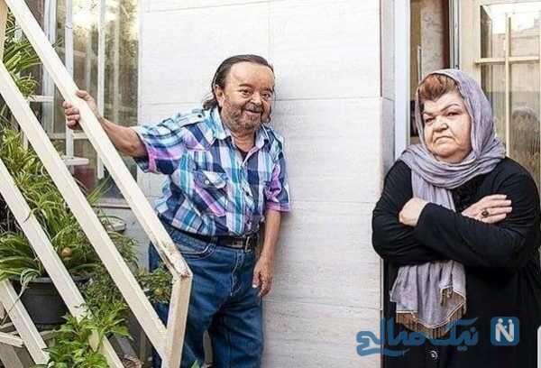 عکس اسدالله یکتا با همسرش