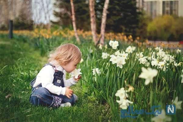 عکاسی از دختر بچه در طبیعت