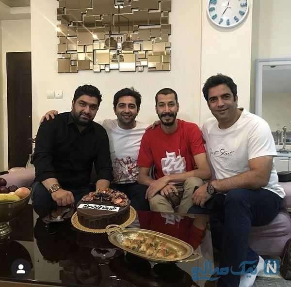 جشن تولد بهرام افشاری بازیگر