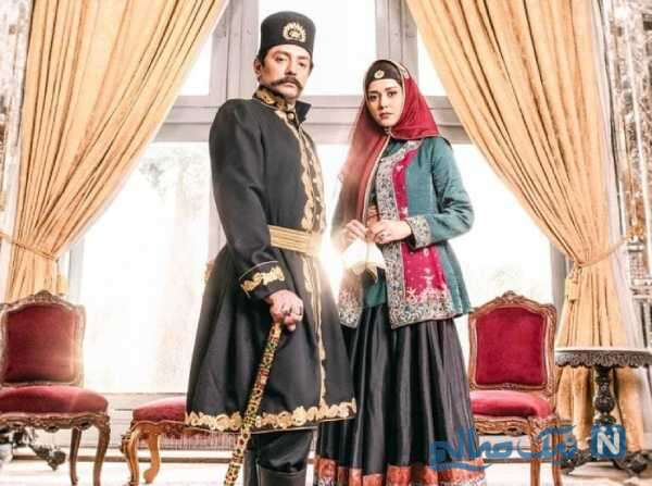 تصویری از بهرام رادان در نقش ناصرالدین شاه