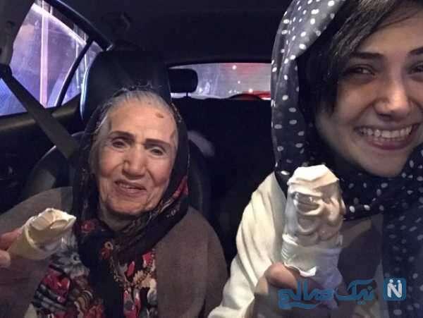 مادربزرگ باران کوثری بازیگر