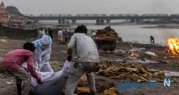 رها کردن اجساد متوفیان کرونایی در رودخانه