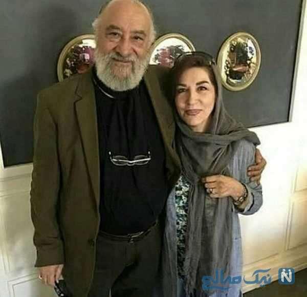 داریوش ارجمند با همسرش فرشته یغمایی