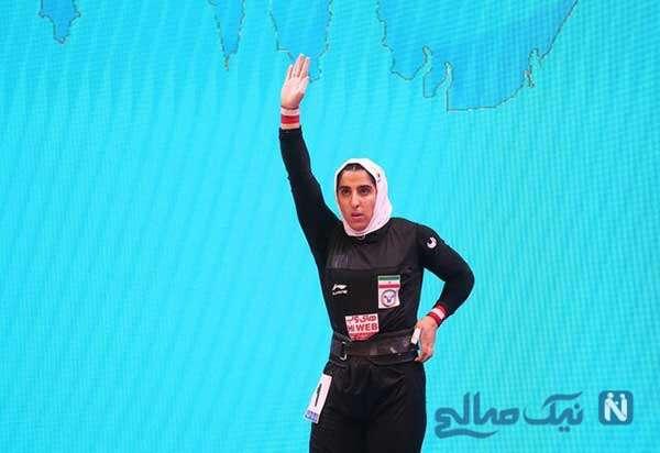 وزنه بردار زن ایرانی