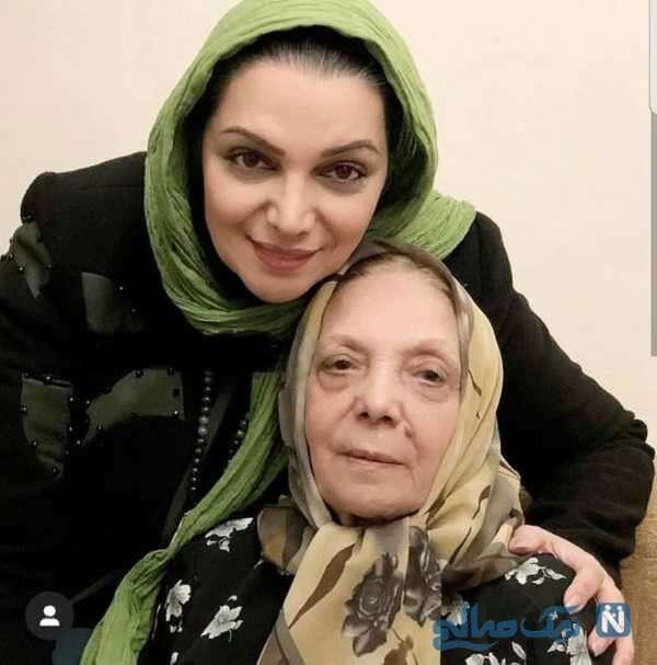 تصویری از الهام پاوه نژاد و مادرش