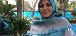 شوخی عاشقانه مجری شبکه خبر المیرا شریفی مقدم با همسرش