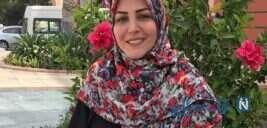 استایل بهاری المیرا شریفی مقدم با همسرش همراه با شکوفه های بهاری