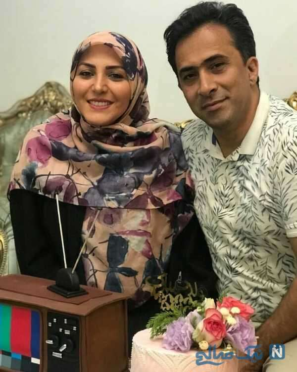 المیرا شریفی مقدم با همسرش داوود عابدی