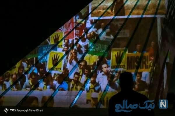 نورپردازی برج آزادی برای همدردی با فلسطین