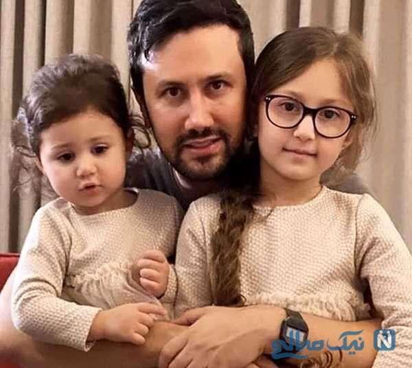بازی شاهرخ استخری با دخترانش پناه و نبات