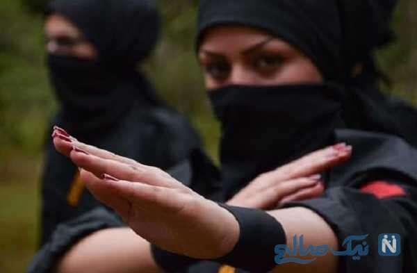 مبارزه شبانه دختران بدون حجاب در باغی در اطراف شهریار