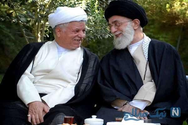 مرحوم رفسنجانی در کنار رهبر