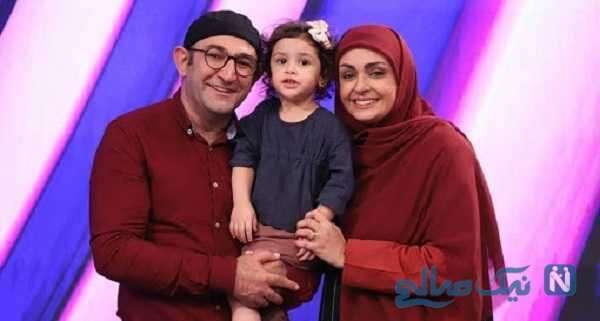 هدایت هاشمی و همسرش در کنار دخترشان