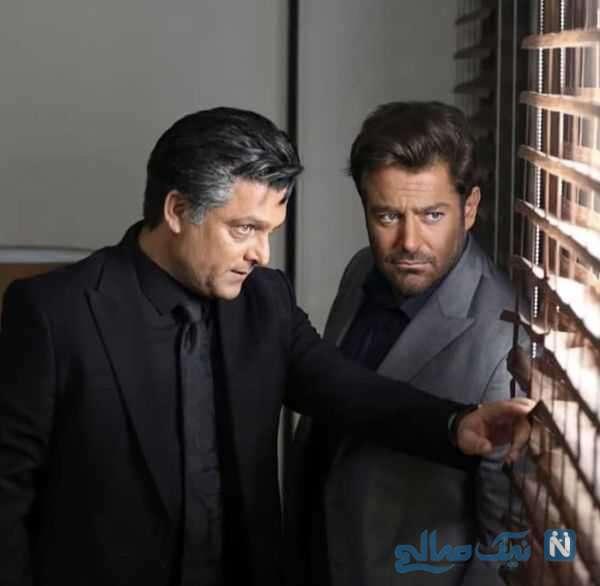 رضا گلزار و حسین یاری در سریال گیسو