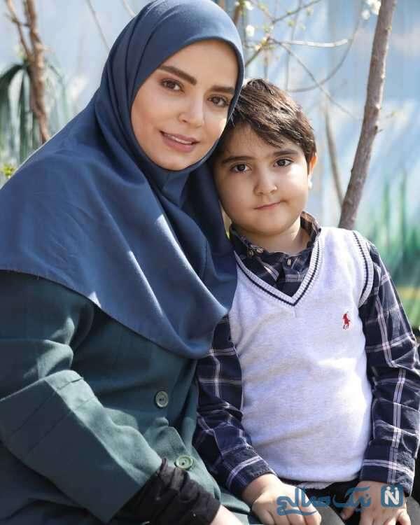 بازیگر زن ایرانی سپیده خداوردی و پسرش