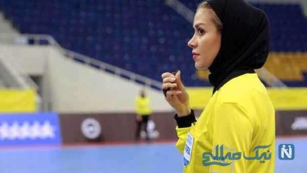 تصویری از داور زن ایرانی