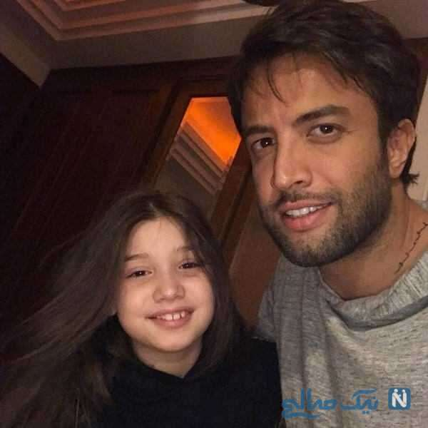 بنیامین بهادری خواننده ایرانی و دخترش