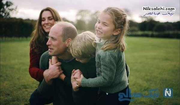 کیت میدلتون و همسر و فرزندانش