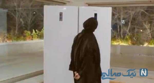 درامد لیلا حاتمی برای تبلیغ یخچال