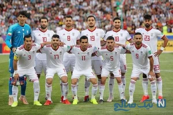 اعضای تیم ملی فوتبال ایران هنگام دریافت واکسن کرونا