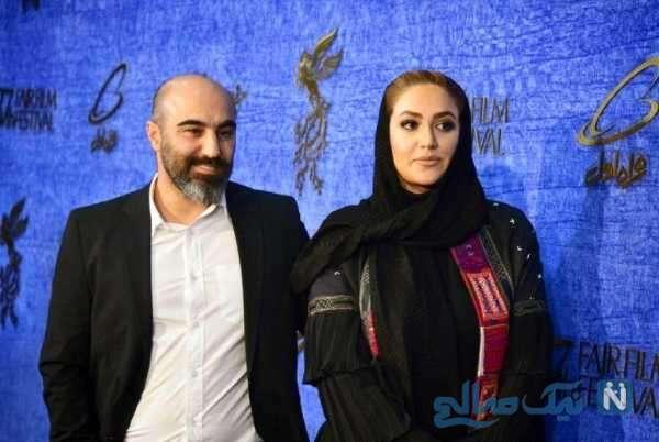 محسن تنابنده همراه همسرش روشنک گلپا