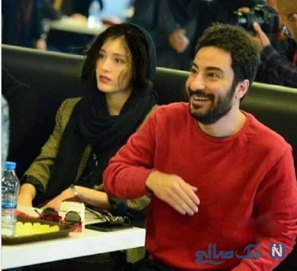 فرشته حسینی و نوید محمدزاده در رستوران