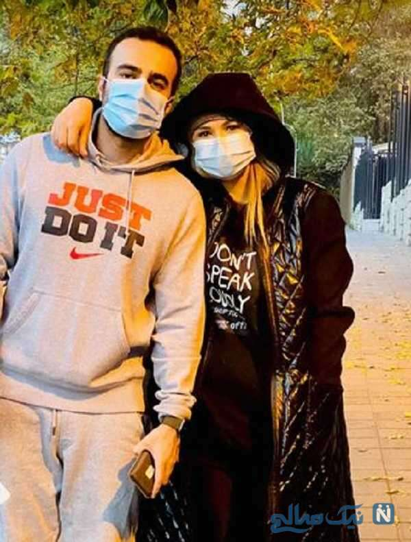 تصویری از نیلوفر هوشمند با همسرش