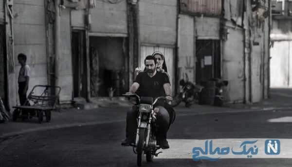 موتورسواری محسن تنابنده و پریناز ایزدیار