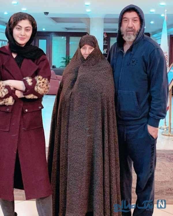 علی انصاریان و مادرش در پشت صحنه سرزده