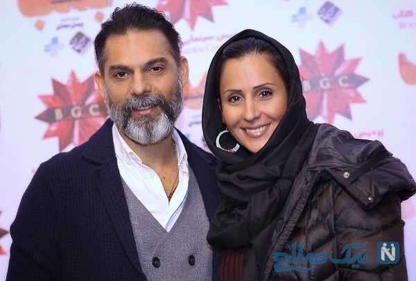تصویر پیمان معادی و همسرش