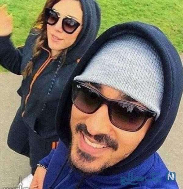 رضا قوچان نژاد با همسرش سروین بیات